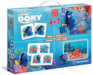 Clementoni Disney Pixar Findet Dorie Edu Kit 4 in 1 Memo, Domino