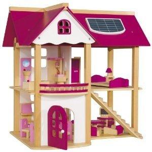 Eichhorn 100002528 - Holz gr. Puppenhaus, 24-teilig