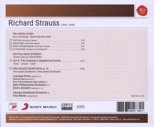 Strauss: Four Last Songs; Die Frau ohne Schatten;
