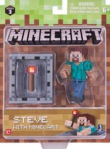 Minecraft - Sammelfigur Steve + Minecart