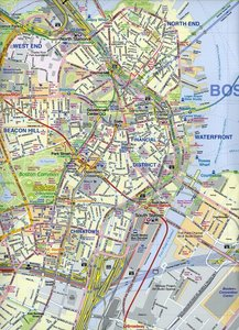 Boston & USA Northeast Map 1 : 10 000 / 1 : 000 000