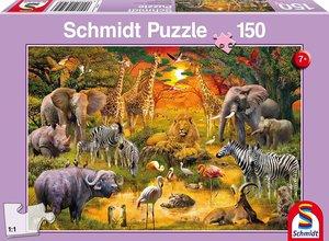 Schmidt 56195 - Tiere in Afrika Puzzles, 150 Teile