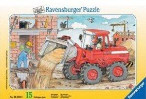 Mein Bagger. Puzzle mit 15 Teilen