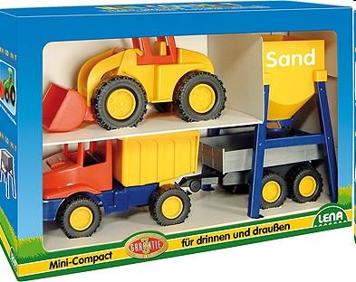 Lena 01252 - Mini Compact: Baustellen Set - zum Schließen ins Bild klicken