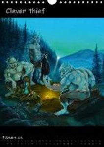 DWARF GOLD, DRAGON RAGE AND CLEVER THIEF (Wall Calendar 2015 DIN