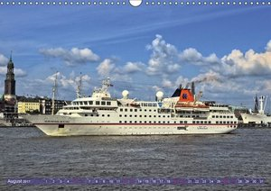 Kreuzfahrtschiffe zu Gast in Hamburg (Wandkalender 2017 DIN A3 q