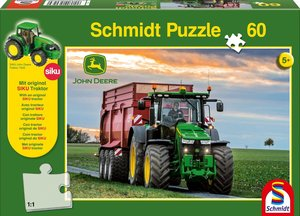 John Deere. Traktor mit 8600i Feldhäcksler Puzzle 100 Teile und