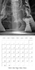 Antelope Canyon - Black & White Views (Wall Calendar 2015 300 ×