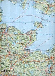 Falk Länderkarte Deutschland Nord 1 : 500 000