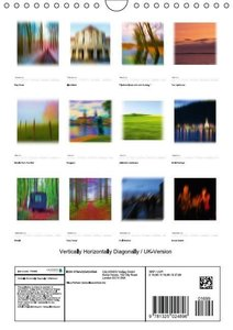 Vertically Horizontally Diagonally / UK-Version (Wall Calendar 2