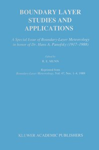 Boundary Layer Studies and Applications