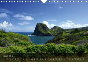 Mountains of Hawaii - UK Version (Wall Calendar 2016 DIN A4 Land