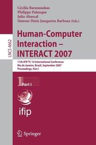 Human-Computer Interaction - INTERACT 2007