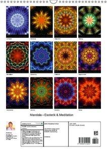 Mandala - Esoterik & Meditation (Wandkalender 2016 DIN A3 hoch)