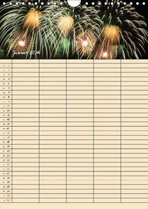 Familienplaner Feuerwerk (Wandkalender 2016 DIN A4 hoch)