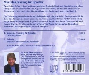 MENTALES TRAINING F.SPORTLER-Tiefensug