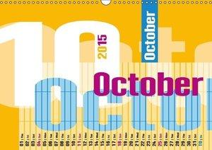 Typography Calendar / 2015 (Wall Calendar 2015 DIN A3 Landscape)