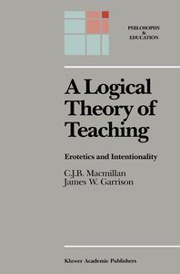 A Logical Theory of Teaching