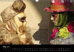 Magical Masks of Venice / UK-Version (Wall Calendar 2015 DIN A3