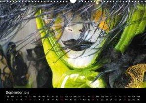 Magical Masks of Venice / UK-Version (Wall Calendar 2015 DIN A3