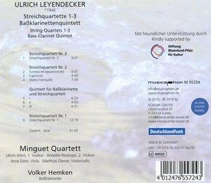 Streichquartette 1-3 und Baßklarinettenquintett