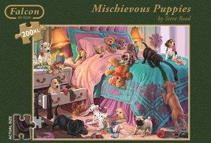 Jumbo Spiele 11138 - Mischievous Puppies, 200 Teile, XL