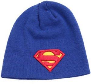Superman Mütze Beanie Classic Logo, blau (Einheitsgröße)