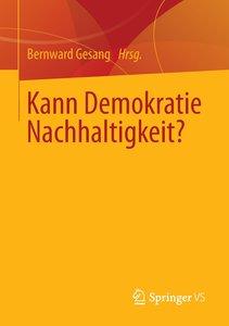 Kann Demokratie Nachhaltigkeit?