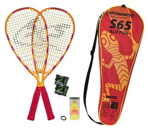 Speedminton Set S65 in Fullcover, gelb/rot