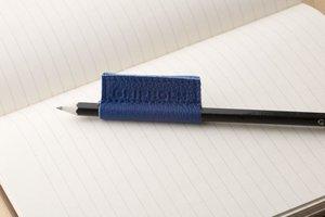 Gripholm | 2er Set Stiftmanschetten aus Leder | Blau-Gelb