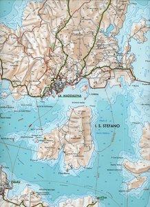 Touristische Straßen- und Wanderkarte 01 Maddalena 1 : 25 000