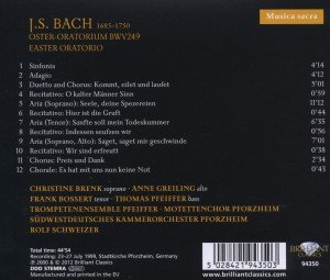 Musica Sacra: J.S.Bach-Osteroratorium