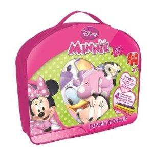 Jumbo 17485 - Disney Minnie Mouse - Puzzle & Colour