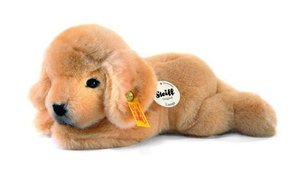 Steiff 280160 - Lumpi Golden Retriever Welpe 22 cm liegend