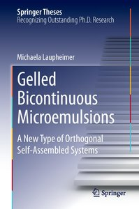 Gelled Bicontinuous Microemulsions