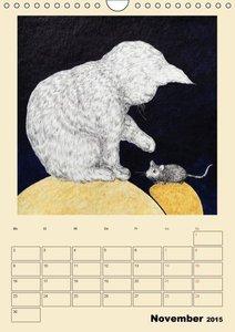 Surreale Katzenträume (Wandkalender 2015 DIN A4 hoch)