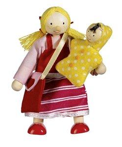 GOKI 51724 - Biegepuppe Tochter, 9 cm