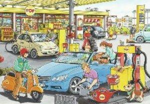Autowerkstatt und Tankstelle. Puzzle 2 X 24 Teile