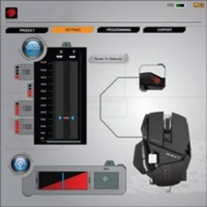 R.A.T. 3 Gaming Mouse für PC und Mac, rot