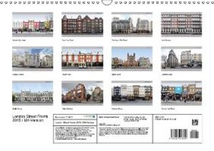 London Street Fronts 2015 / UK-Version (Wall Calendar 2015 DIN A