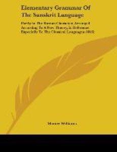 Elementary Grammar Of The Sanskrit Language