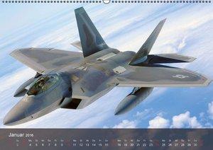 Luftwaffe. Kampfflugzeuge der USA (Wandkalender 2016 DIN A2 quer