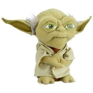 Joy Toy 741020 - Star Wars: Yoda, Plüsch, 23 cm