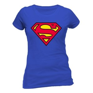 Superman Logo Girlie-Size M-Blue