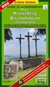 Rhön, Kreuzberg, Bischofsheim und Umgebung 1 : 35 000 Radwander-