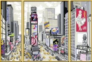 New York Times Square. Malen nach Zahlen Sonderserie Premium