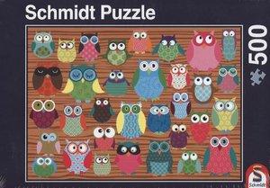 Schmidt 58196 - Puzzle Eulen Collage