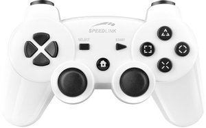 Speedlink SL-4443-WE STRIKE FX Wireless Gamepad - für PS3/PC, gl