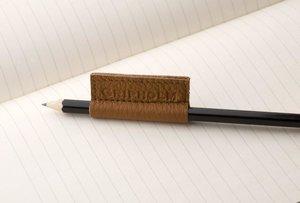 Gripholm | 2er Set Stiftmanschetten aus Leder | Cognac-Schwarz