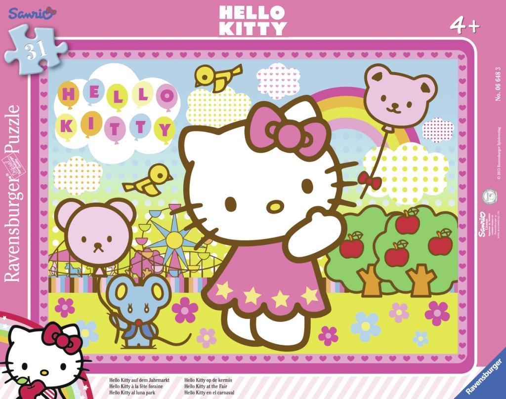 Hello Kitty auf dem Jahrmarkt. Rahmenpuzzle 31 Teile - zum Schließen ins Bild klicken